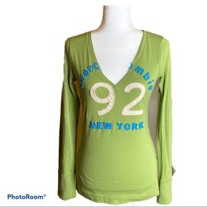 NWT Girls Abercrombie & Fitch v-neck top